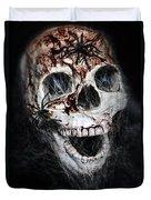 Bloody Skull Duvet Cover by Joana Kruse