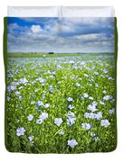 Blooming Flax Field Duvet Cover