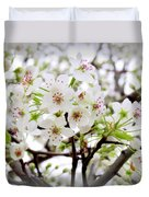 Blooming Ornamental Tree Duvet Cover