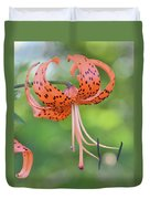 Blooming Tiger Duvet Cover
