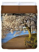 Blossoming Cherry Trees Duvet Cover