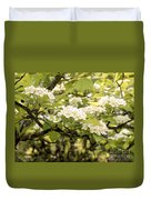 Blossoming Hawthorn Tree Duvet Cover