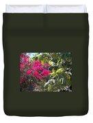 Blossoms And Breadfruit Duvet Cover
