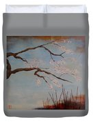 Blossoms Over The Lake Duvet Cover
