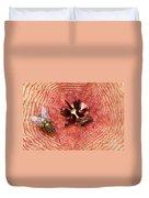 Blowflies On Stapelia Duvet Cover
