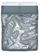 Blue Abstract Art Duvet Cover