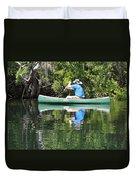 Blue Amongst The Greens - Canoeing On The St. Marks Duvet Cover