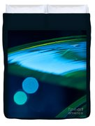 Blue And Green Abstract Duvet Cover by Dana Kern