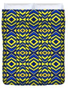 Blue And Yellow Chevron Pattern Duvet Cover