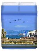 Blue Angels San Francisco Wharf Duvet Cover