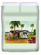 Blue Beach Shack Los Pinones Puerto Rico Duvet Cover