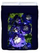 Blue Blossoms Duvet Cover