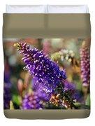 Blue Brush Bloom Duvet Cover