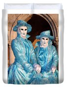 Blue Cane Duo Duvet Cover