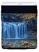 Blue Cascade Falls Duvet Cover
