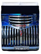 Blue Chevy Pick-up Grill Duvet Cover