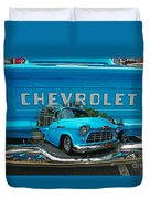 Blue Chevy Pickup Dbl. Exposure Duvet Cover