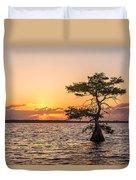 Blue Cypress Lake Sunrise Duvet Cover