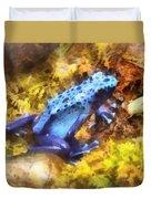 Blue Dart Frog Duvet Cover