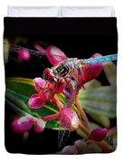 Blue Dasher Dragonfly Duvet Cover