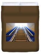 Blue Escalators Duvet Cover