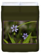 Blue Eyed Grass Duvet Cover