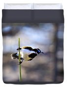 Blue Faced Honey Eater V3 Duvet Cover
