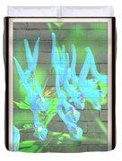 Blue Flower Abstract Duvet Cover