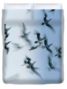 Blue-footed Booby Sula Nebouxii Flock Duvet Cover