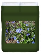 Blue Forget Me Not Duvet Cover