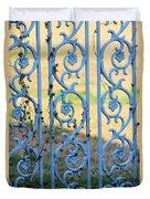Blue Gate Swirls Duvet Cover
