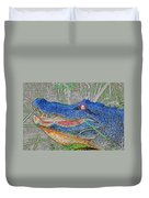 Blue Gator Duvet Cover