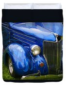 Blue Ghost Flames Duvet Cover