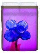 Blue Glass Purple Wall Pink Hand Duvet Cover