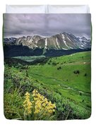 Blue Grouse Pass, Willmore Wilderness Duvet Cover