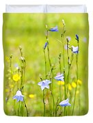 Blue Harebells Wildflowers Duvet Cover