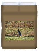 Blue Heron At Valley Forge Duvet Cover