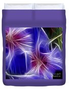 Blue Hibiscus Fractal Panel 4 Duvet Cover