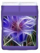 Blue Hibiscus Fractal Panel 5 Duvet Cover