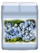 Blue Hydrangeas With Watercolor Effect Duvet Cover