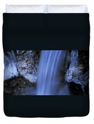 Blue Icy Waterfall Duvet Cover