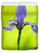 Blue Japanese Iris Duvet Cover
