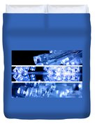 Blue Led Lights In Three Strips Duvet Cover