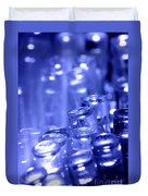 Blue Led Lights Pointing Upwards Duvet Cover