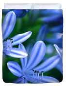 Blue Lily Of The Nile Duvet Cover