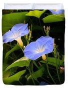 Blue Morning Glories Duvet Cover