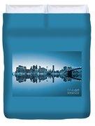 Blue New York City Duvet Cover