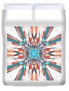 Blue Orange Kaleidoscope Duvet Cover