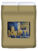 Blue Palace Greeting Card Duvet Cover