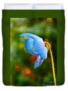 Blue Poppy Dreams Duvet Cover